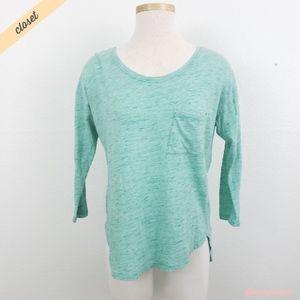 [GAP] Mint Green High/Low Slouchy Tee